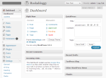 Menu on Dashboard - Admin Quicksearch (Wordpress Plugin) Screenshot