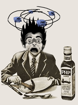 Jeff Atwood's PHP addiction has put him into critical state.